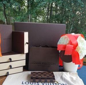 Louis Vuitton Porte monnaie Billets carte Genuine